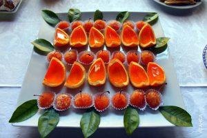 Doces artesanais de laranja de Amares